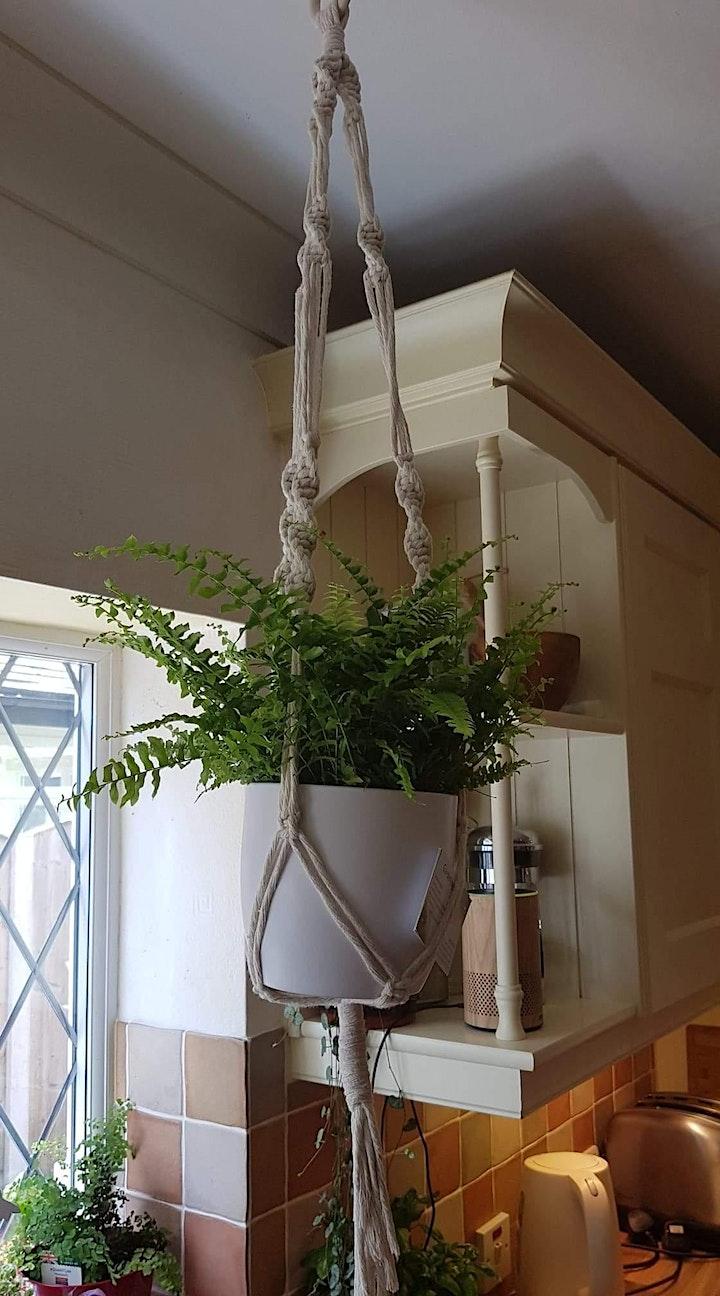 Gardening Lady Macrame Plant Hanger Workshop 1 image