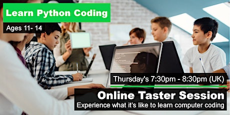 Online Python Taster Sessions (Age 11-14) tickets
