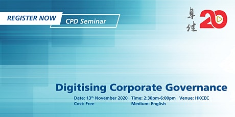 Tricor Seminar - Digitising Corporate Governance tickets