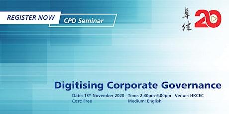 Tricor Seminar - Digitising Corporate Governance tickets