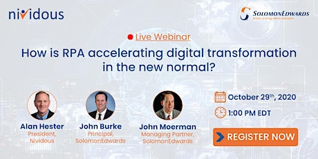 Webinar: How is RPA accelerating digital transformation in the new normal? tickets