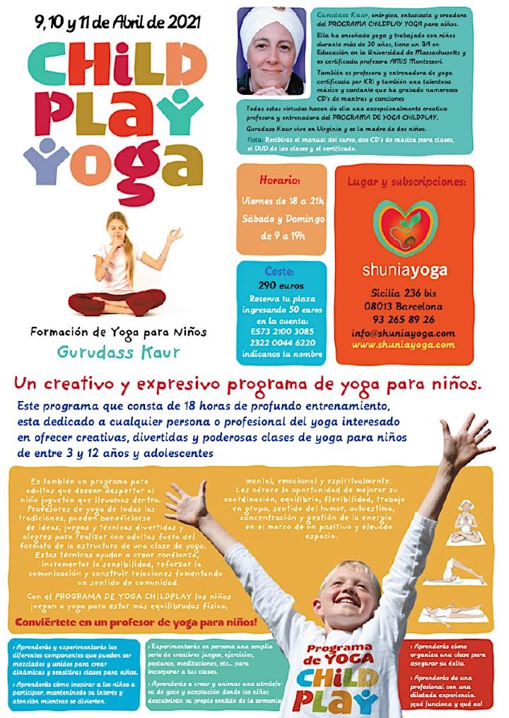 Imagen de Formación Childplay Yoga con Gurudass Kaur - Abril 2021