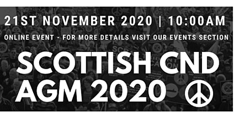 Scottish CND AGM 2020 tickets