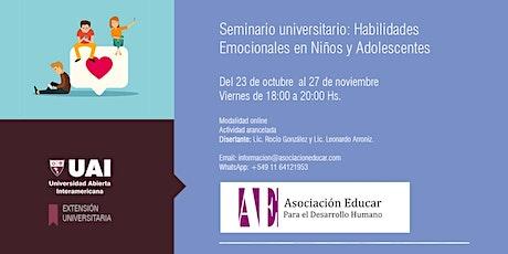 Seminario Universitario: Habilidades Emocionales en Niños y Adolescentes entradas