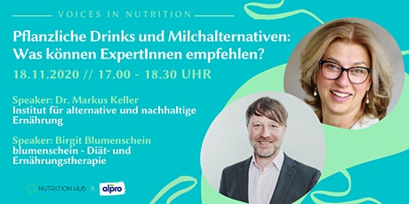 Pflanzliche Drinks und Milchalternativen: Was können ExpertInnen empfehlen? Tickets