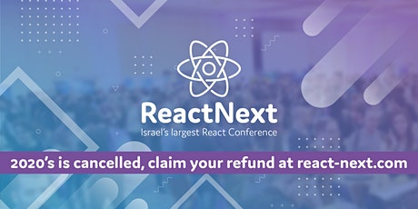 ReactNext 2020 tickets