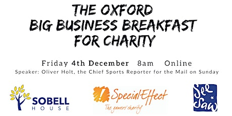 The Oxford Big Business Breakfast for Charity - 4 December tickets