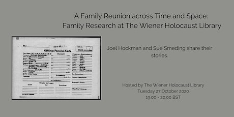 A Family Reunion across Time and Space: Family Research at the Library tickets