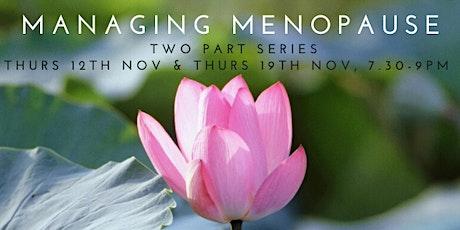 Managing Menopause tickets