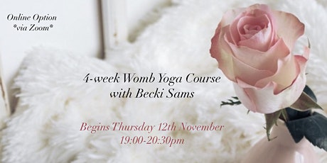 4-Week Womb Yoga with Becki Sams *Online Option* tickets