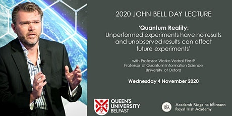 John Bell Day Lecture 2020:  Quantum Reality tickets