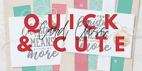 November Quick & Cute Card Class at Tie One On Creativity Bar tickets