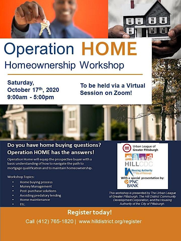 Operation Home Workshop - October 2020 image