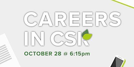 Careers in CSR tickets