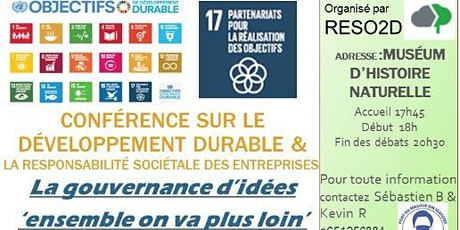 CONFERENCE 'LA  GOUVERNANCE D'IDEES' ensemble on va plus loin billets