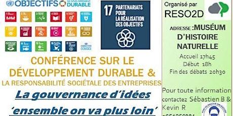 CONFERENCE 'LA  GOUVERNANCE D'IDEES' ensemble on va plus loin tickets