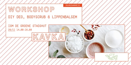 Workshop | DIY deo, bodyscrub en lippenbalsem tickets