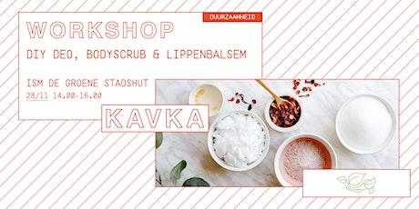 Workshop | DIY deo, bodyscrub en lippenbalsem billets