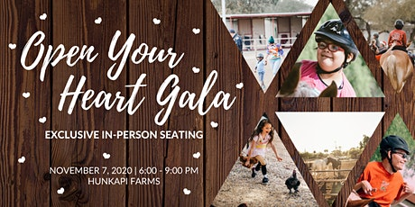Exclusive In-Person Seating for the 2020 Open Your Heart Gala tickets