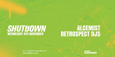 Shutdown: Alcemist tickets