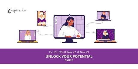 InspireHer: Unlock your potential with our 4-day online series tickets