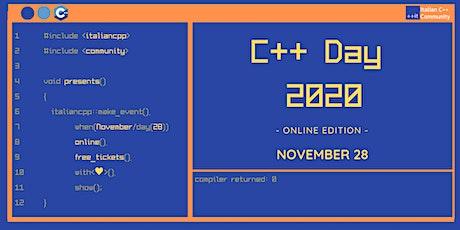 C++ Day 2020 tickets