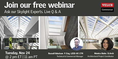 VELUX Webinar: Ask our Skylight Experts – Live Q&A tickets