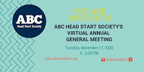 ABC Head Start Society - Virtual AGM tickets