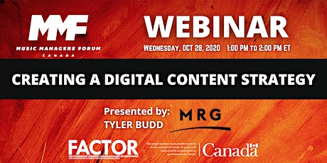 MMF CANADA WEBINAR: Creating a Digital Content Strategy tickets