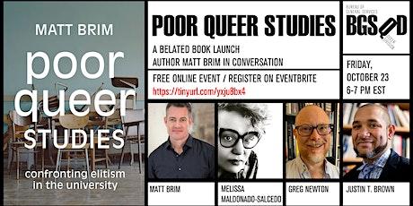Poor Queer Studies: Matt Brim in Conversation tickets