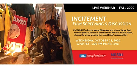 """Incitement"" virtual film screening and discussion tickets"