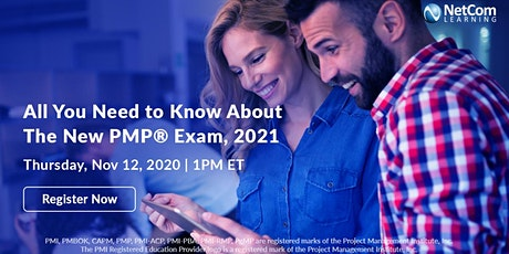 Webinar - All You Need to Know About the New PMP® Exam, 2021 tickets