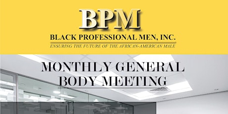 BPM General Body Meeting tickets