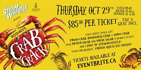 Rodney's Crab Crack with Steam Whistle Brewery 2020 tickets