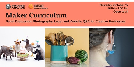 Panel Discussion: Photography, Legal + Website Q&A for Creative Businesses tickets
