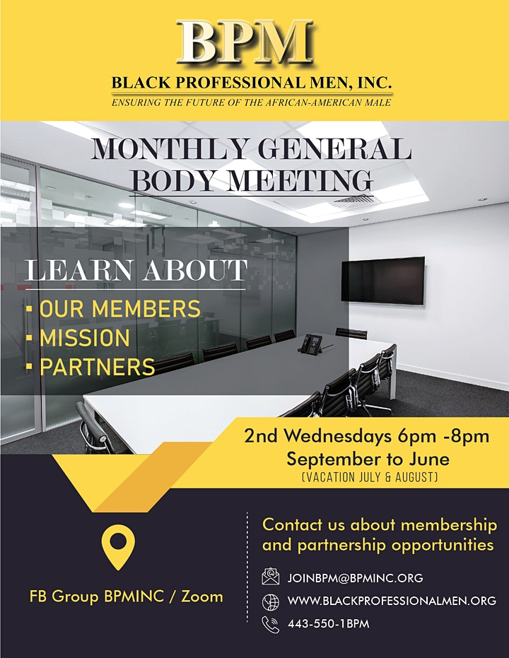 BPM General Body Meeting image