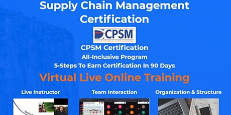 Supply Chain Management Boot Camp - CPSM Certification tickets