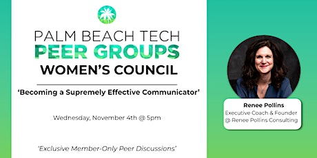 WOMEN'S PEER GROUP | 'Becoming a Supremely Effective Communicator' tickets
