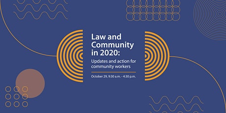 Law and Community in 2020: Updates and action for community workers tickets