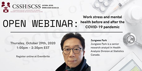OPEN WEBINAR: Work stress and mental health before and after the pandemic tickets