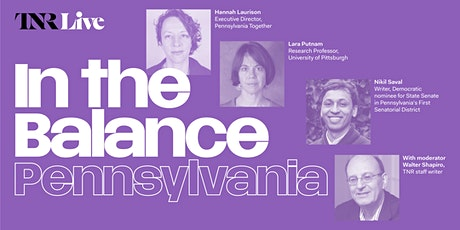 TNR Live: In the Balance—Pennsylvania tickets