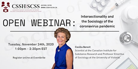 OPEN WEBINAR: Intersectionality and the Sociology of the COVID-19 pandemic tickets