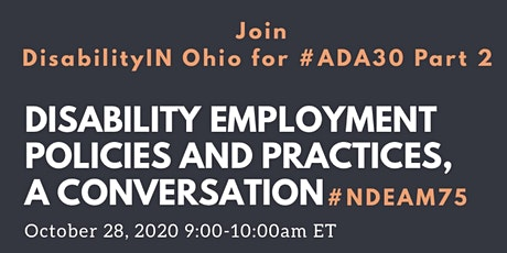 Disability Employment Policies and Practices, a Conversation #NDEAM75 tickets