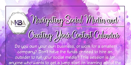 Navigating Social Media and Creating Your Content Calendar Track tickets