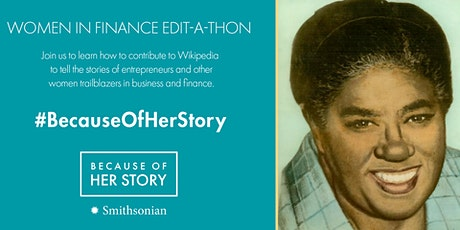 Women in Finance Wikipedia Edit-a-thon tickets