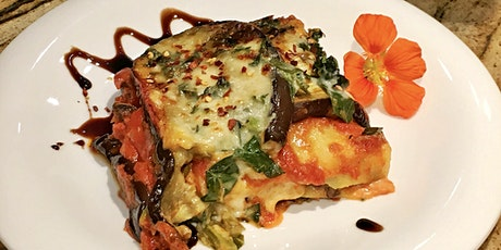 Vegetarian Lasagna and Cauliflower Fritters virtual cooking class tickets
