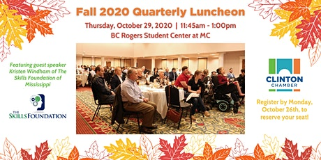 Clinton Chamber Fall 2020 Quarterly Luncheon tickets