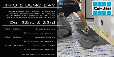 Centanni Tile Hosts: Laticrete Info & Demo Days tickets