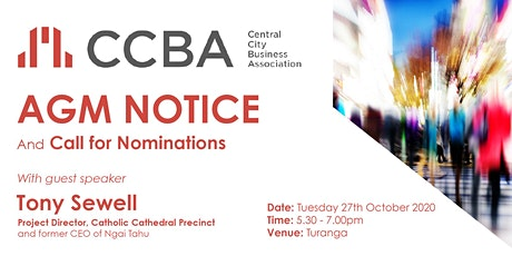 CCBA AGM & Elections tickets