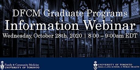 DFCM Graduate Programs - Admissions Information Webinar tickets